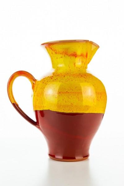 Hydria Original handgemachte Keramik Kanne von Kreta mittel - rot