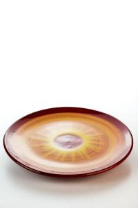 KHydria Original handgemachter Teller 30cm von Kreta - rot