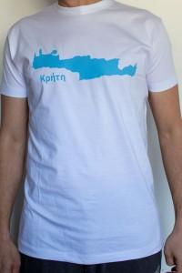 T-Shirt Creta weiß 100% Baumwolle Exclusive...