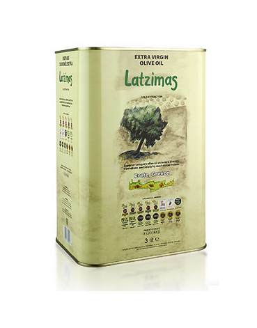 Latzimas Extra Natives Olivenöl g.U. - erste Kaltpressung (3L Kanister)